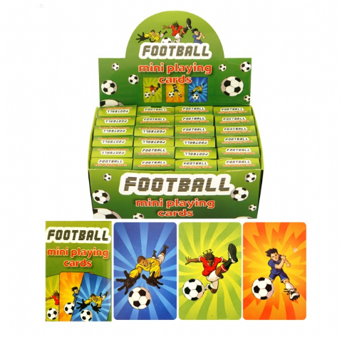 24 x Packs Of Football Themed Mini Playing Cards - Wholesale Bulk Buy Party Bag Fillers